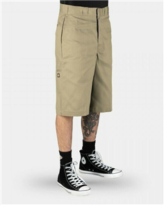 "Dickies 42283 Loose Fit 13"" Work Short, Khaki"