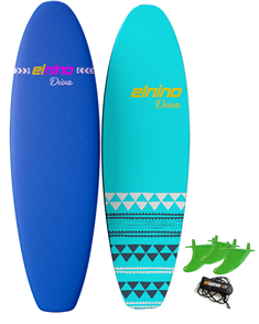 El Nino Diva - Cruiser Soft Surfboard, 2017-18, Purple/blue, Size 7'0