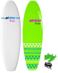 El Nino Diva - Cruiser Softboard, White