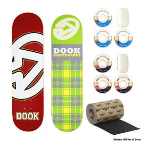 DOOK COMBO2 - 2 Decks & 2 Wheels (Including Grip for all Decks)