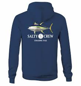 Salty Crew Tail Chasing Pull Over Hood, Navy