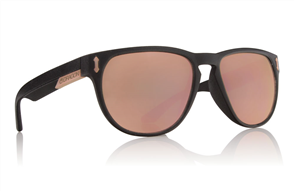 Dragon Marquis Sunnies, Matte Black/Rose Gold