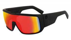 Dragon DOMO LL ION Sunglasses, Matte Black w/ LL Red Ion