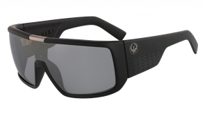 Dragon DOMO  Sunglasses, Matte Black Silver w/ Silver Ion