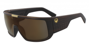 Dragon Domo Sunnies, Matte Woodgrain Copper Ion
