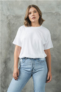 Evolution Basics Stuck On You Short Sleeve Tee, White
