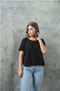 Evolution Basics Twilight Short Sleeve Tee, Black