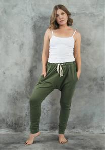 Evolution Basics Harem Pants, Olive Green