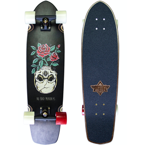 "Dusters Mondays Cruiser 31"" Londboard Complete, Black"