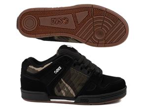DVS CELSIUS SKATE SHOE, Black/ Camo/ NBK