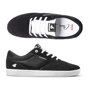 DVS Pressure SC+ Shoe, 006 Black White Suede Chico