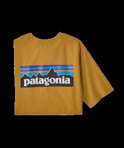 Patagonia P-6 Logo Responsibili-Tee, Hawk Gold