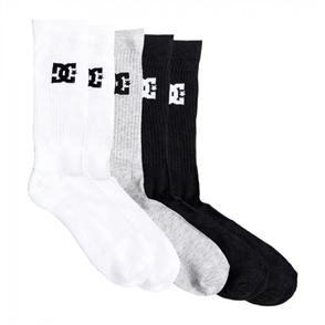 DC SPP DC Crew Sock 5 Pairs Mens, Assorted