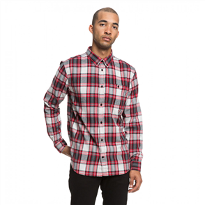 DC Northboat Long Sleeve Mens Shirt, Tango Red