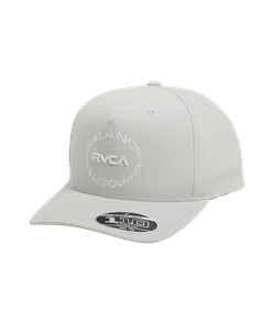 RVCA ECLIPSE PINCHED SNAPBACK, SILVER