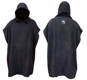 Curve El Poncho Jr Surf Change Robe - Youth, Charcoal