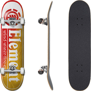 """Element Section Yellow Red Skate Complete, 8.0"""""""