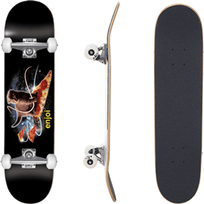 Enjoi Pizza Kitten Complete Skateboard, Black