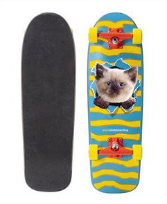 Enjoi Kitten Ripper Resin Skate Complete, Multi, 8.25""