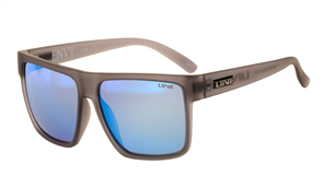 Liive Envy - Mirror Polarized Sunglasses, Matt Xtal Smoke