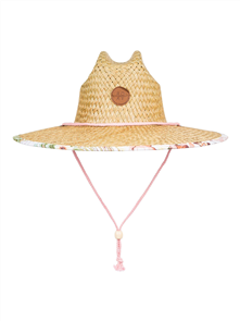 Roxy PINA TO MY COLADA STRAW HAT, Bright White Herbier