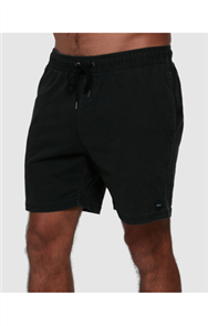 RVCA ESCAPE ELASTIC SHORT, BLACK