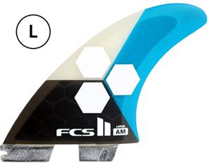 FCS II AM PC Large Teal Tri-Quad Retail Fins