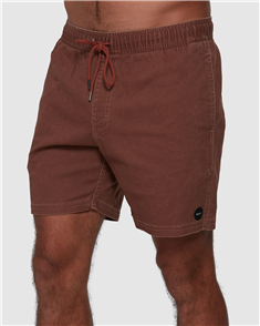 RVCA ESCAPE ELASTIC WALKSHORT, COCOA