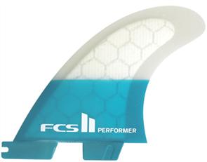 FCS II Performer PC Teal Large Tri Retail Fins