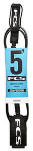 FCS 5' Comp Leash 5.5mm Black
