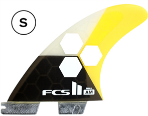 FCS II AM PC Small Yellow Tri Retail Fins