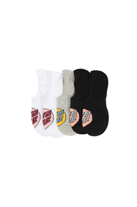 Santa Cruz Pop Dot No Show Socks 5Pr, Assorted