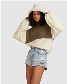 Billabong SEEING STRIPES SWEATERS, SAGE