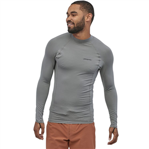 Patagonia Men's Long-sleeved R0 Top, Feather Grey