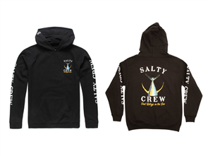 Salty Crew Fishtail Boys Fleece, Black