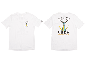 Salty Crew Fish Tail Boys Short Sleeve Tee, White