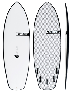 Super Brand The Fling SuperFlex Shortboard, Clear