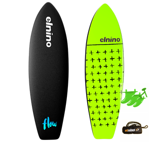 El Nino Flow Soft Surfboard, 2017-18, Black, Size 6'0""