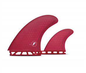 Futures Honeycomb Ft1 R twin Fin Set, Dark Red