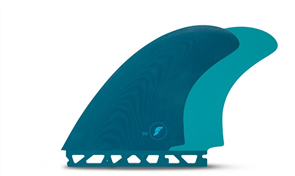 Futures EN Keel Twin Fin set, Dark Teal