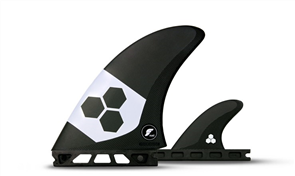 Futures AMT Twin +1 -Alpha Series Packaged Fins, Carbon White