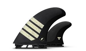 Futures Alpha Ft1-V2 Twin fin set, Carbon Tan