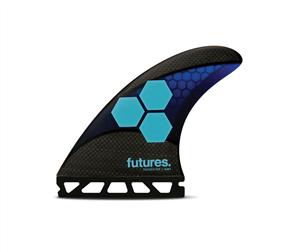 Futures Am1 Techflex Thruster Set (FTT3), Blue Cyan