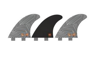 Creatures Of Leisure Mitch Coleborn Vert Dual Tab Fin, Black White Stripe