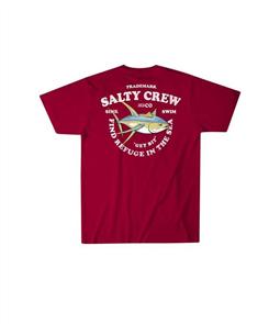 Salty Crew Hotline T-Shirt, Cardinal