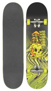 """Globe G1 Nature Walk Skate Cruiser, Black/Toxic Yellow 8.1"""""""