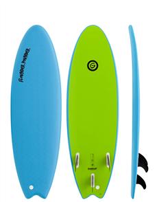 Gnaraloo Flounder Pounder Softboard, Blue Lime