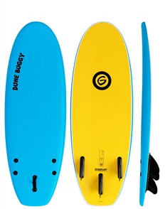 Gnaraloo Dune Buggy Softboard, Bule Yellow