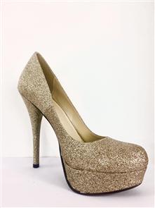 Soda Jones Womens Shoes Gold Glitter