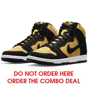"Nike SB DUNK ""REVERSE GOLDENROD"" HIGH PRO SHOE, BLACK/ BRIGHT YELLOW"